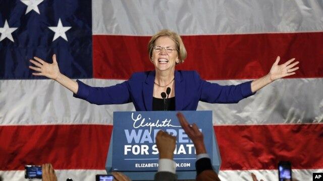 Tại Massachusetts, bà Elizabeth Warren thuộc đảng Dân chủ đã giành lại được ghế mà Thượng nghị sĩ Edward Kennedy từng nắm giữ