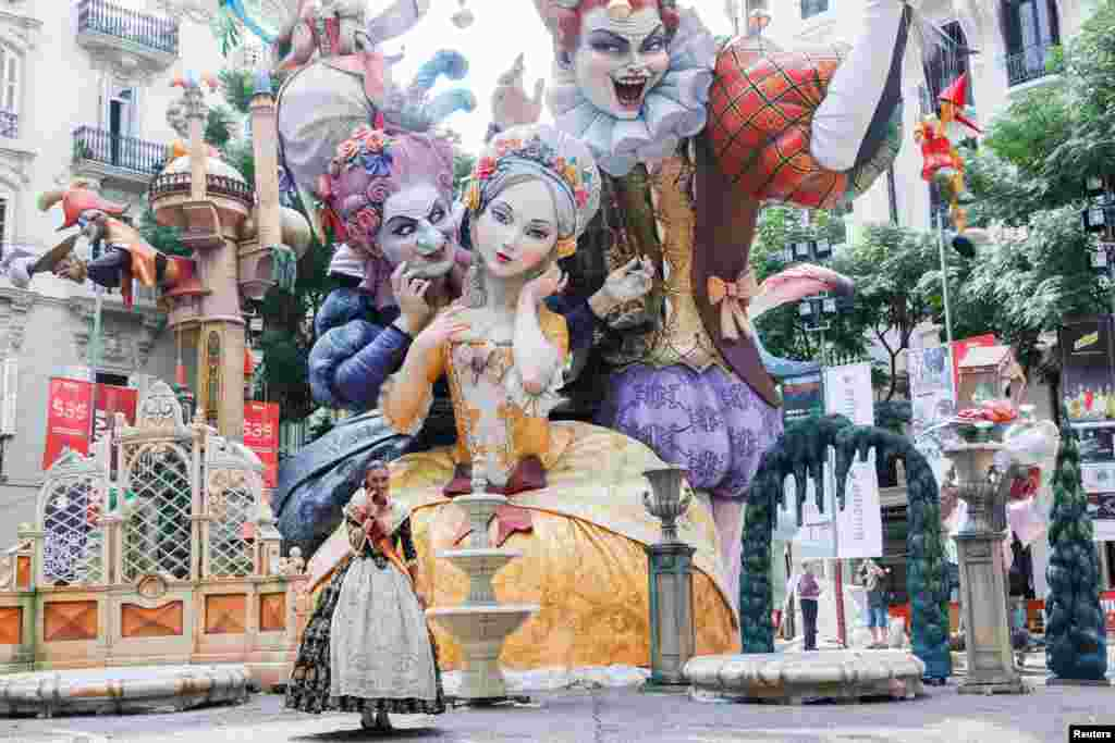 Fallas festival kicks off after its suspension due to the COVID-19 pandemic in Valencia, Spain.