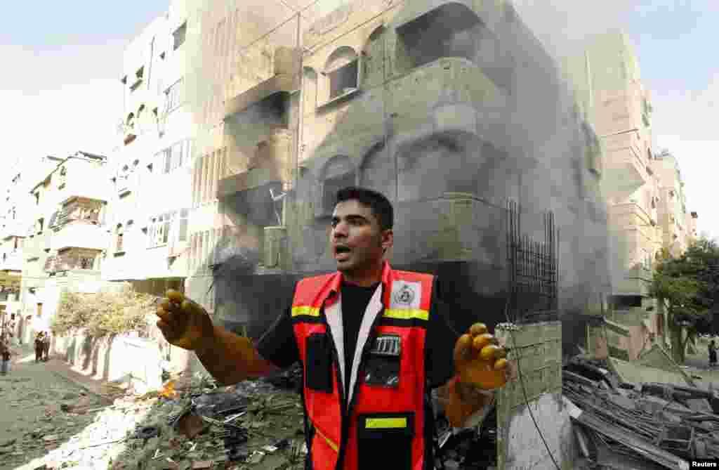 İsrail Qəzza Zolağına havadan hücumlar həyata keçirir - 10 iyul, 2014