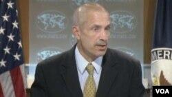 美国务院副发言人马克•托纳(美国之音视频截图)