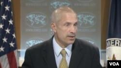 美國務院副發言人馬克.托納(美國之音視頻截圖)