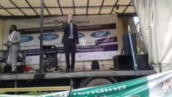 Doug Coltart Singing At Harare Election March