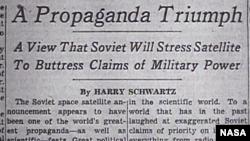 Триумф пропаганды: Советы будут использовать спутник для усиления претензий на военное превосходство. После того, как СССР запустил первый искусственный спутник Земли, в США начали более активно работать над собственной космической программой