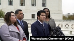 Jirayuth Latthivongskorn, a DACA recipient, gave a statement after the Supreme Court's DACA hearing.
