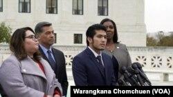 Jirayuth Latthivongskorn, a DACA recipient, gave a statement after the Supreme Court's DACA hearing.