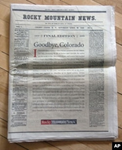 The Rocky Mountain News had been published for 150 years before going out of business last year. The Internet, which stole away many of the print edition's readers, helped kill it.