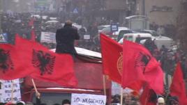 Protesta në mbështetje të Luginës së Preshevës
