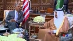 奧巴馬抵達沙特聚焦打擊伊斯蘭國組織