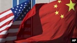 美國國旗和中國國旗