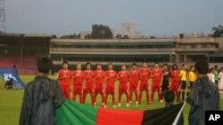بازیکنان تیم ملی فوتبال افغانستان در بازی های چانج کپ آسیا منعقدۀ نیپال