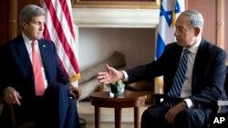11月6日美國國務卿克里與以色列總理內塔尼亞胡在耶路撒冷進行會談