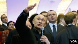 Perdana Menteri Rusia Vladimir Putin memenangkan pemilu Rusia 2012 (4/3)
