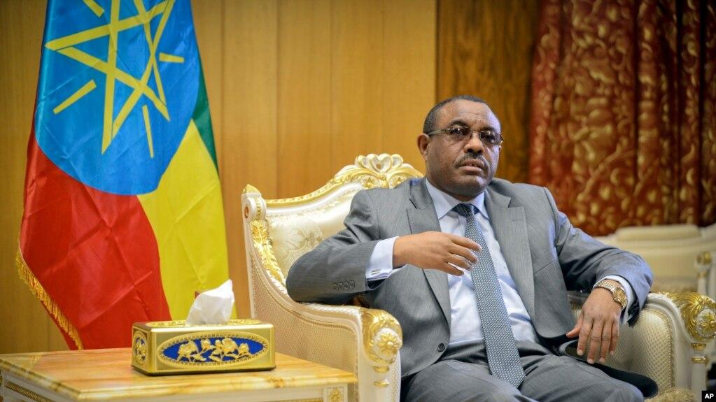 FILE - Ethiopia's Prime Minister Hailemariam Desalegn.