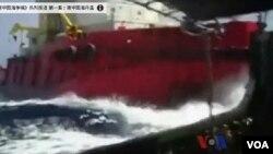 圖為越南和中國船隻發生衝突。