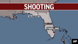 Pozisyon Parkland nan Eta Florid, kote atak la fèt sou Lise Marjory Stoneman Douglas.