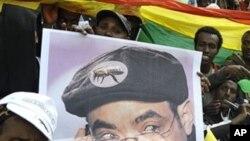 Poster du Premier ministre Meles Zenawi, dont le parti est le favori du scrutin du du 23 mai