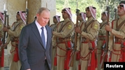 Владимир Путин в Иордании