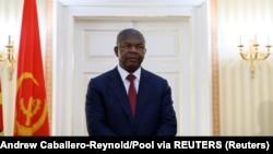 Presidente angolano, Joao Lourenço, no Palácio Presidencial, a 17 de fevereiro, 2020