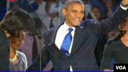 Re-elected US President Barack Obama.