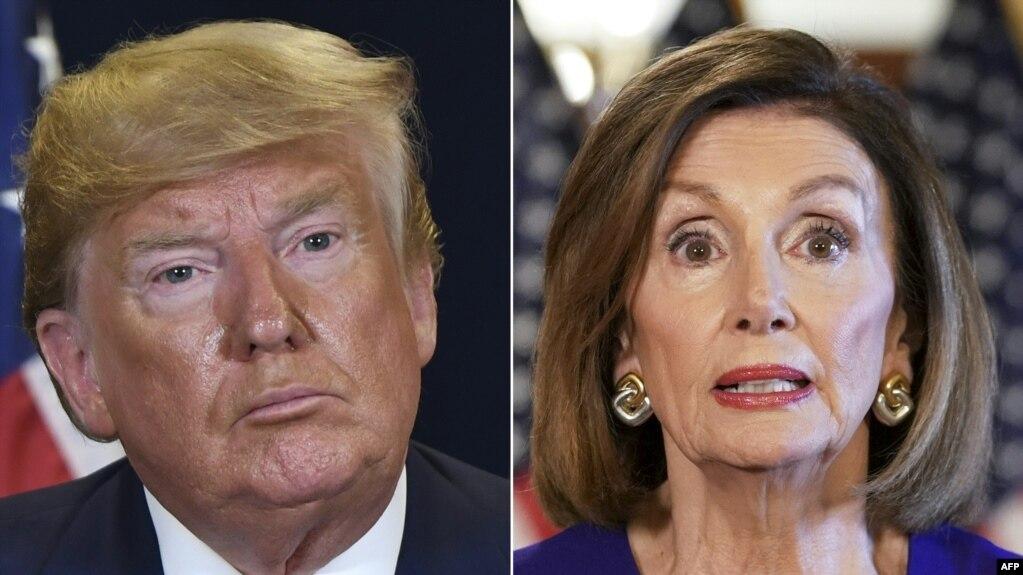 Tổng thống Donald Trump và Chủ tịch Hạ viện Nancy Pelosi.