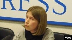 国际危机及组织研究员帕霍敏科(美国之音白桦拍摄)