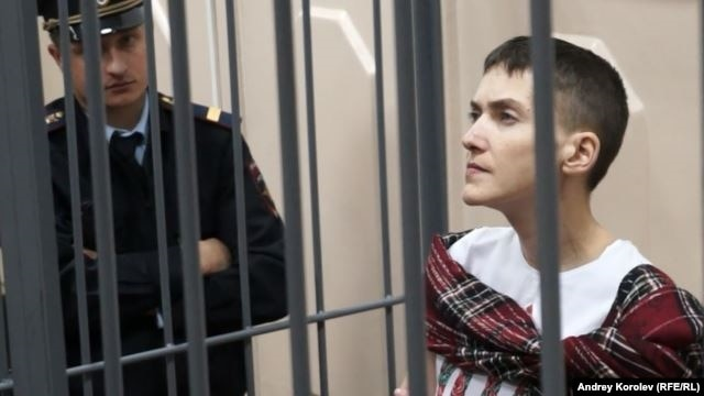 FILE - Nadiya Savchenko is now facing a 23-year prison sentence in Russia and is hailed as a hero in Ukraine.