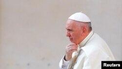 Le pape François au Vatican le 30 août 2017. (Reuters/ Tony Gentile)