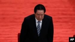 2012年5月周永康在庆祝中国共青团成立90周年大会上