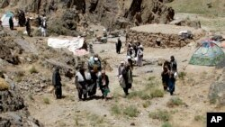 Nhóm ly khai của Taliban tập trung ở huyện Shindand trong tỉnh Herat, Afghanistan, ngày 27/5/2016. (Ảnh tư liệu)