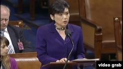 华裔议员赵美心在众议院发言