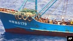 被日本扣押的中国渔船