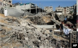 Attaque israélienne, le 25 août 2011, contre un club sportif du Jihad islamique à Beit Lahiya, au nord de Gaza