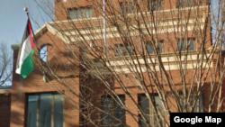 واشنگٹن میں واقع فلسطین لبریشن آرگنائزیشن کا دفتر ، جسے اب بند کر دیا گیا ہے۔ فائل فوٹو
