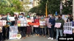 Makundi mbalimbali Hong Kong wanashinikiza mpaka kati yao na China Bara ufungwe.
