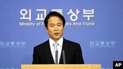 조병제 한국 외교통상부 대변인 (자료사진).