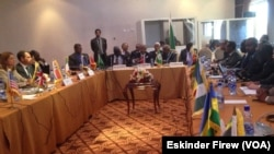 IGAD-Plus mediators meet on South Sudan at peace talks in August 2015. Workshops on security and demilitarization began in Addis Ababa on Sunday, Sept. 12, 2015.