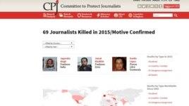 69 gazetarë të vrarë në vitin 2015