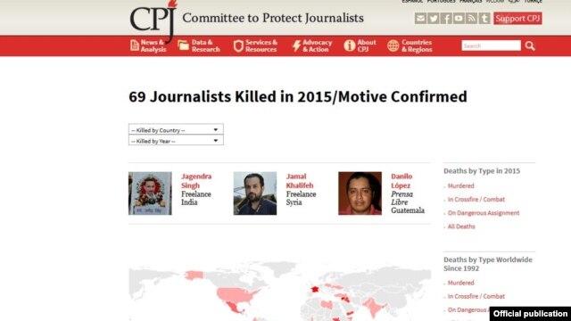 CPJ အဖြဲ႔ရဲ႕ ၂၀၁၅ ထုတ္ျပန္တဲ့ အစီအရင္ခံစာ