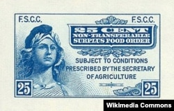 The first U.S. food stamps came off the presses April 20, 1939.