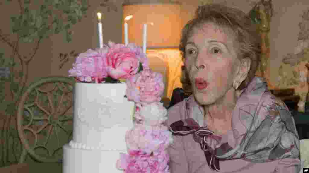 Former first lady Nancy Reagan celebrates her 94th birthday.