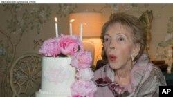 سابق خاتونِ اول نینسی ریگن کی زندگی کی چند جھلکیاں