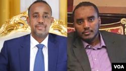 Le Premier ministre somalien Mohammed Hussein Roble et Fahad Yasin, le chef de la National Intelligence Service Agency (NISA) de la Somalie