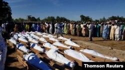 ساکنان محلی احتمال میدهند حدود هفتاد نفر توسط پیکارجویان کشته شدهاند