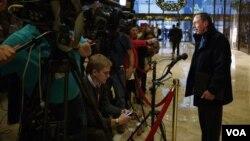 前中情局长彼得雷乌斯会晤川普后接受媒体采访
