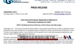 中国学生赴美读研兴趣下降