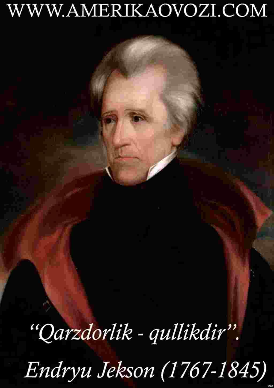 Endryu Jekson 1829-1837-yillarda Amerikaning yettinchi prezidenti sifatida faoliyat yuritgan