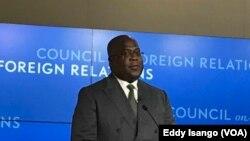 Félix Tshisekedi à Washington, le 4 avril 2019. (VOA/Eddy Isango)