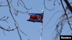 북한 인공기. (자료사진)
