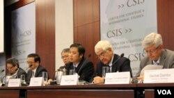 워싱턴의 CSIS에서 6일 열린 2016 동북아평화협력포럼 공개 토론회 모습 (사진 이지은 인턴기자)