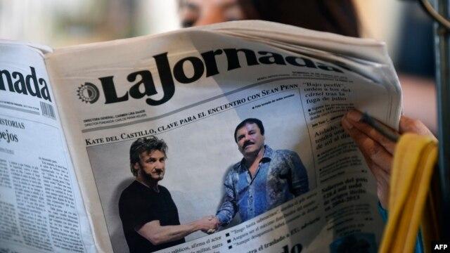 """El encuentro entre el actor Sean Penn y el capo narcotraficante, Joaquín """"El Chapo"""" Guzmán, sigue dando de que hablar."""